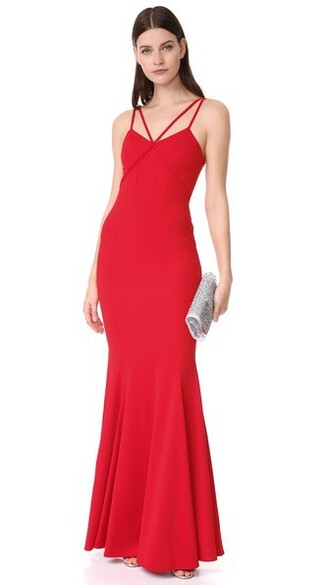 gown violet red dress