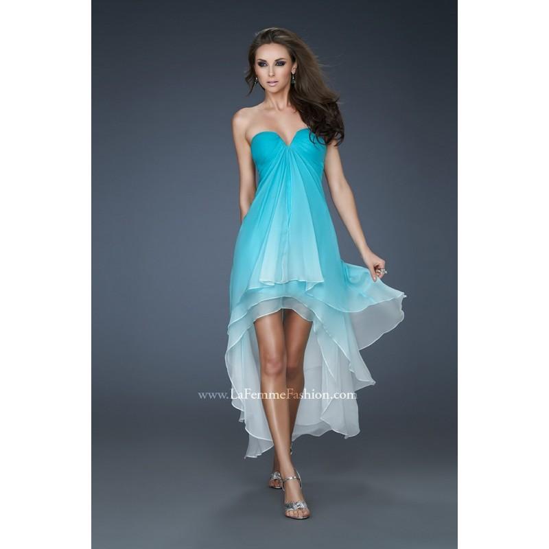 La Femme 18049 Ombre High Low Prom Dress - Crazy Sale Bridal Dresses|Special Wedding Dresses|Unique 2017 New Style Dresses