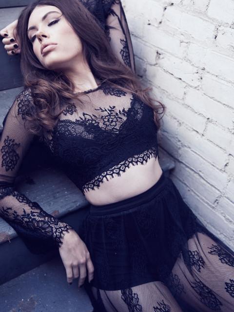 Melody lace maxi skirt