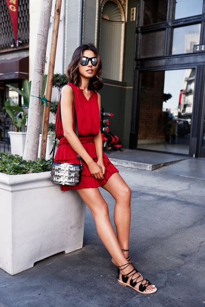 Black and red dress sandals