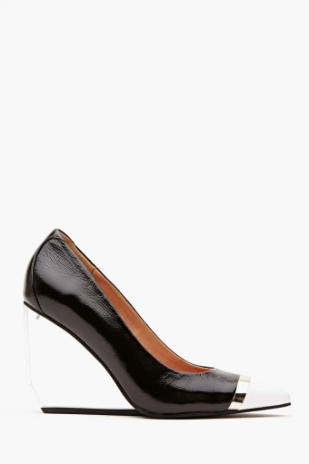 Devian wedge in  shoes at nasty gal