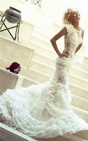 dress,wedding dress,bridal gown,mermaid style evening gowns,white evening dresses onlne,bag