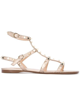 love sandals metallic shoes