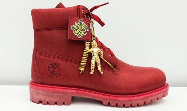 shoes timberland boots red size 11