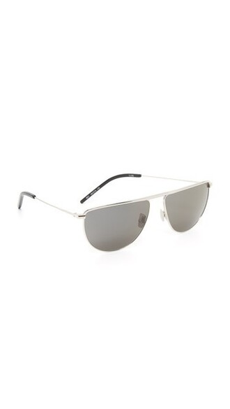 smoke sunglasses silver