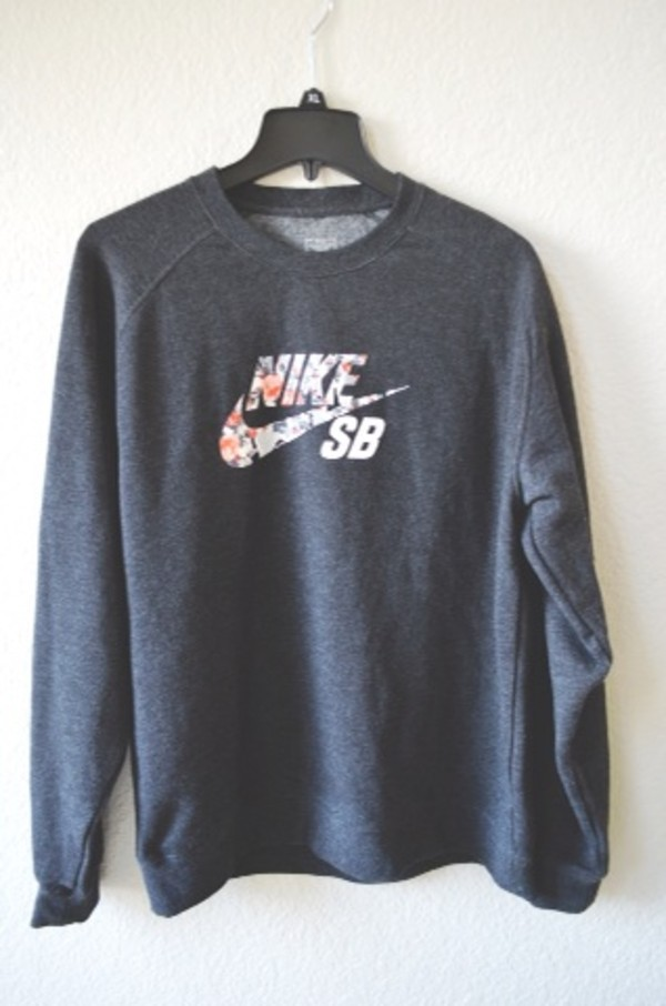 NIKE SB MENS DIGI FLORAL FLEECE LONG SLEEVE PULLOVER CREWNECK ...