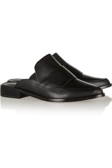 Tibi | Denni leather mules | NET-A-PORTER.COM