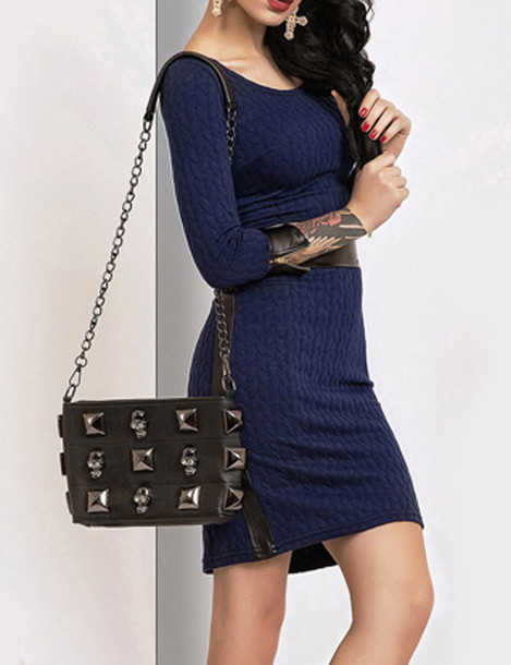 Knitted dress tumblr color