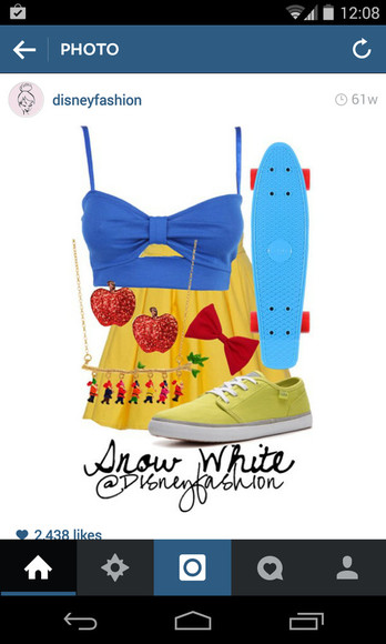 snow white yellow skirt