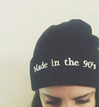 hat made in the 90s 90s style beanie 90s beanie black beanie