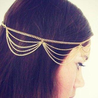 hair accessory chain traditional tassel head jewels