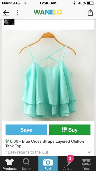 blouse teal green blue summer tank top style fashion