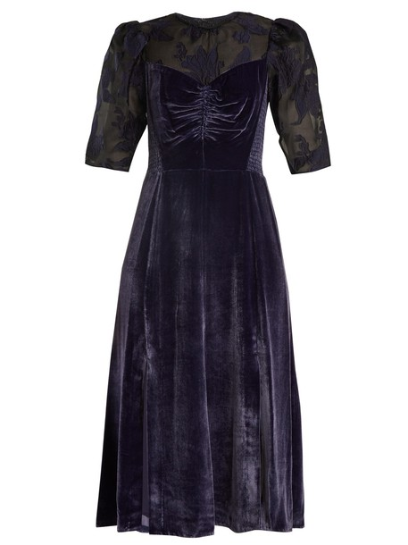 Rebecca Taylor dress velvet dress velvet black