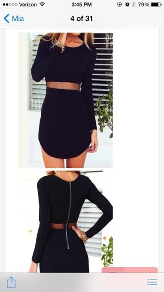 dress black dress long sleeve dress short dress