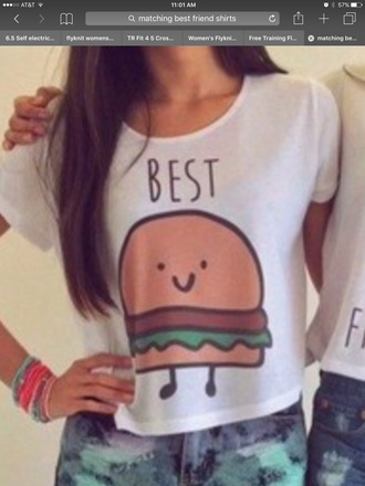 shirt best part of best friend shirts hamburger