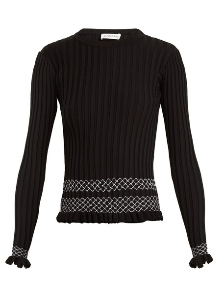 sweater knit black