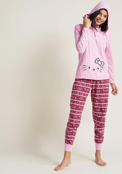 Modcloth pajamas pink underwear