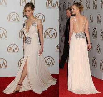 dress gown prom dress jennifer lawrence nude