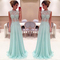 Aliexpress.com : buy new arrival sleeveless high neck see through a line chiffon floor length lace long prom dresses 2015 formal evening gowns from reliable dress pajamas suppliers on suzhou dreamybridal co.,ltd | alibaba group