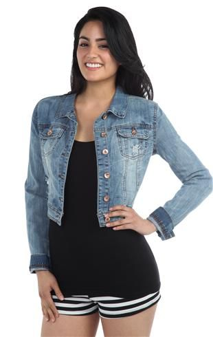 Ymi Light Vintage Denim Jacket - 91000045557 - DebShops.com
