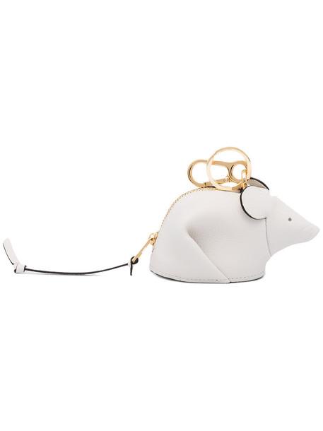 bag charm women bag leather white