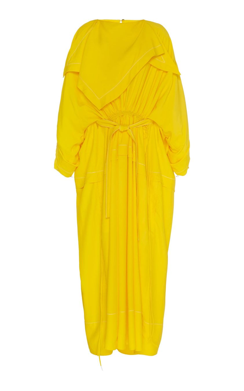 Proenza Schouler Cinched Bandana-Neck Maxi Dress Size: 0