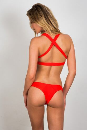 swimwear red bikini bottoms cheeky soah bikiniluxe