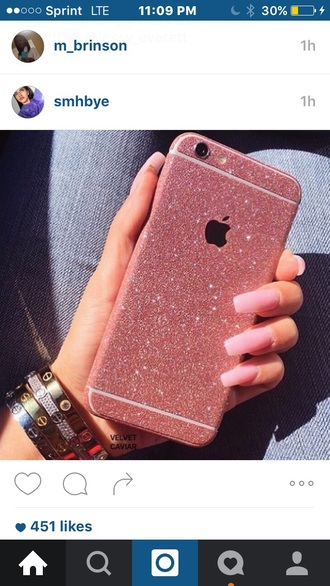 phone cover pink diamonds