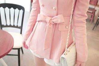 jacket pink jacket bow jacket