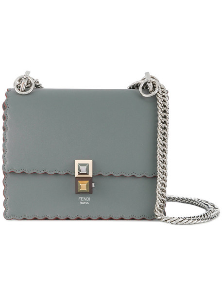 Fendi women bag leather grey