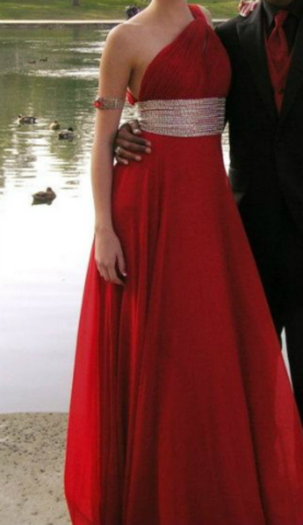 dress red dress prom dress red chiffon one shoulder long dressRed One Shoulder Prom Dresses 2013