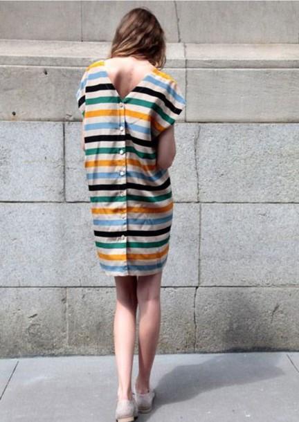 dress stripes shift dress