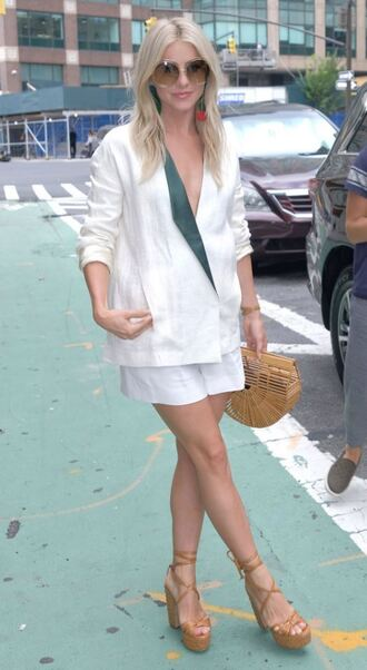 bag shorts blazer julianne hough nyfw 2017 ny fashion week 2017
