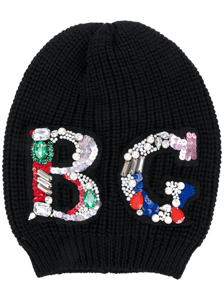 embellished beanie black hat