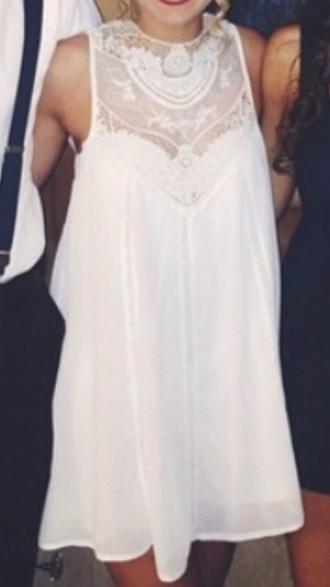 dress white lace white dress lace dress flowy flowy dress