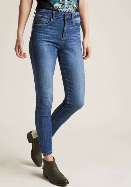 Modcloth jeans skinny jeans zip