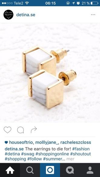 gold marble earrings wow instagram