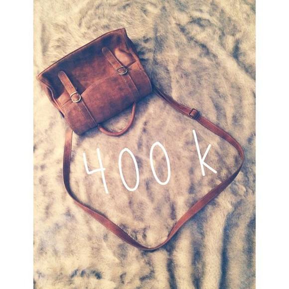 cuir bag sac leather bag vintage