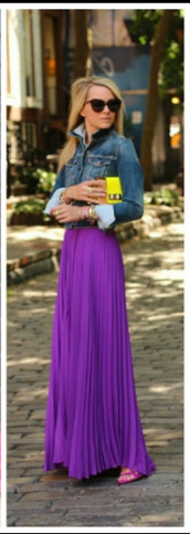skirt,purple,maxi skirt