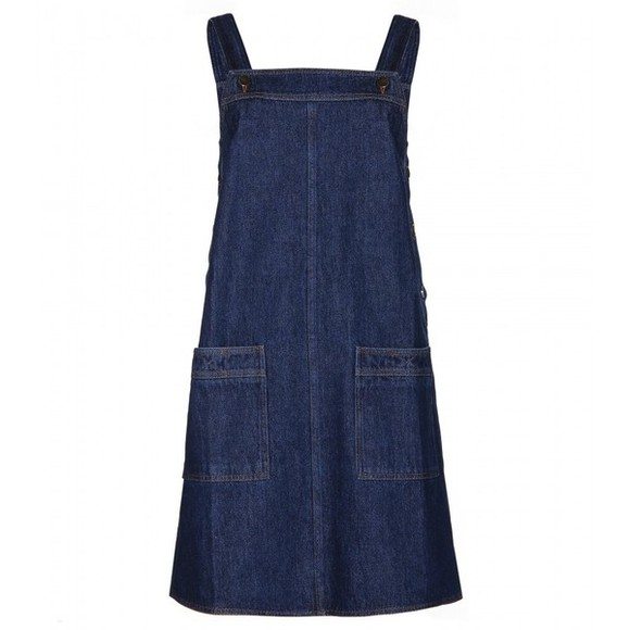 dress mini dress denim pinafore denim dress denim victoria beckham denim indigo