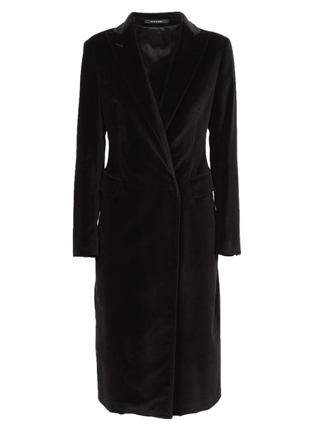 TAGLIATORE coat long black
