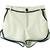 White Contrast Hem Net Layer Shorts - Sheinside.com