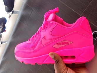 shoes nike air max 90 pink shoes