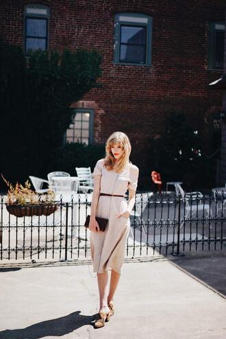 seamlesssea - blogger dress bag spring dress midi dress