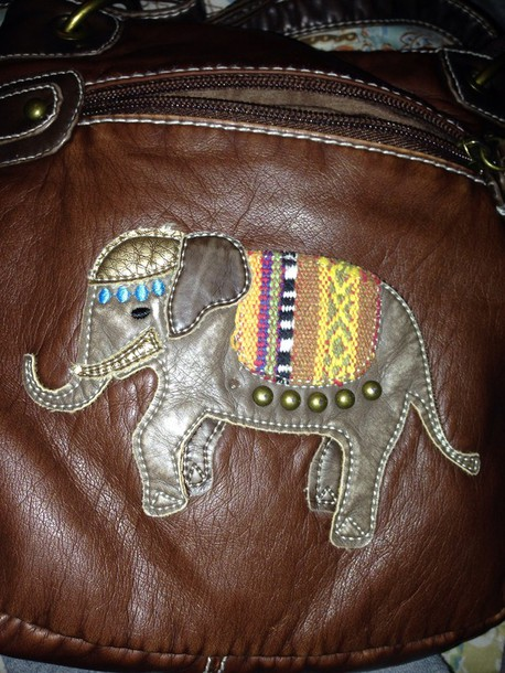 bag brown elephant purse