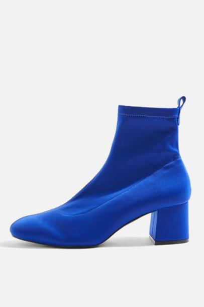 Topshop sock boots blue shoes