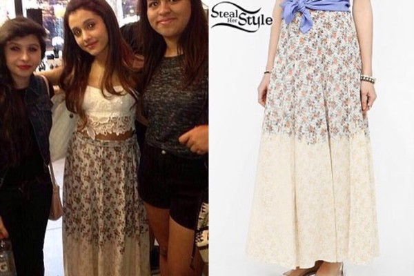 skirt ariana grande shirt