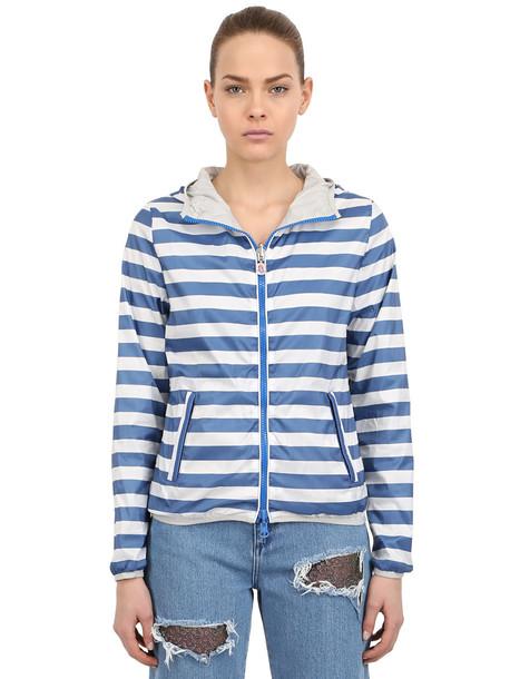 jacket windbreaker white blue grey