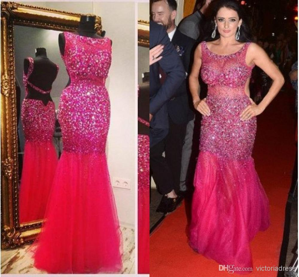 Wholesale Women Prom Dress - Buy 2014 Real Photo Hot Amazing Women Prom Dress Backless Heavily Beads Crystals Mermaid Sexy Celebrit Party Gowns Zuhair Murad Evening Dresses, $183.25 | DHgate
