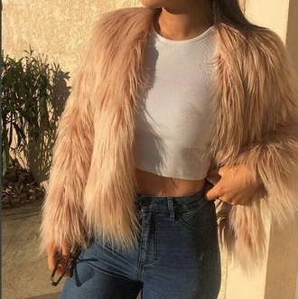 jacket pink fur fur coat fur jacket pink fur coat